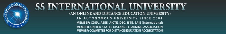 WELCOME TO SS INTERNATIONAL UNIVERSITY